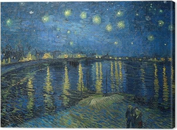 tableaux sur toile vincent van gogh nuit etoilee sur le rhone - Activités et stages - OCA Bonneville